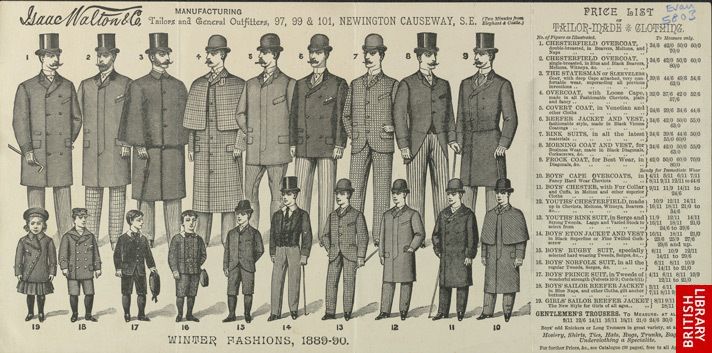 Advert for Isaac Walton & Co, tailors & general outfitters
